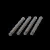 4 x slaglebolte for TS28 topfordret og malebro
